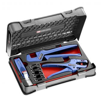 FACOM 819810 - 7pc 3in1 Insulated Terminals Multi Die Plier Set + Strippers