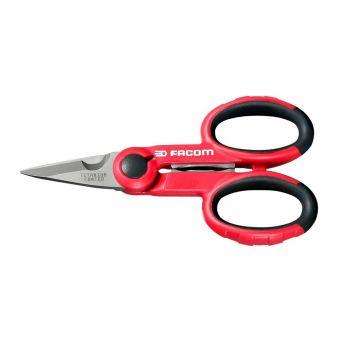 FACOM 841A.4 - 143mm Electricians Comfort Grip Scissors