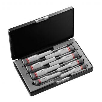 FACOM AEF.J3 - 8pc Slotted Phillips Micro-Tech Precision Screwdriver Set