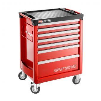 FACOM CHRONO.7M3A - CHRONO+ 7 Drawer 3 Mod Roller Cabinet Red