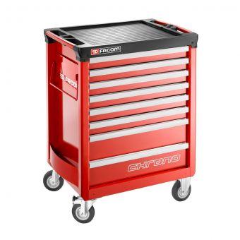 FACOM CHRONO.8M3A - CHRONO+ 8 Drawer 3 Mod Roller Cabinet Red