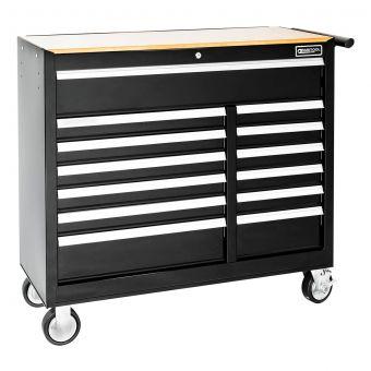 BRITOOL E010235B - Classic Wide 13 Drawer 3+1 Mod Roller Cabinet Black