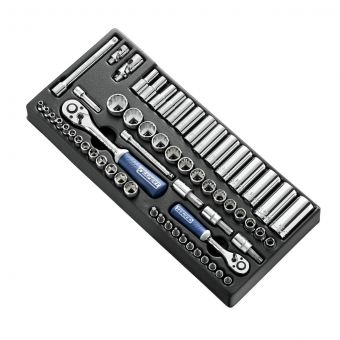"""EXPERT by FACOM E034853 - 62pc 1/4"""" + 3/8"""" Square Drive Metric 6pt Torx Socket Module + Bits"""
