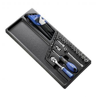 """EXPERT by FACOM E194680 - 45pc 1/4"""" Square Drive Metric 6pt Socket Module + Bits + Keys"""