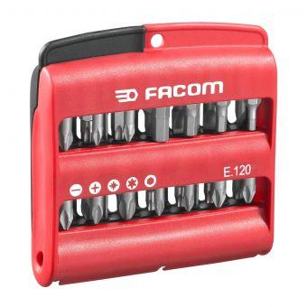 "FACOM E.120 - 28pc Complete 1/4"" Hex Drive 25mm Screwbit Set"