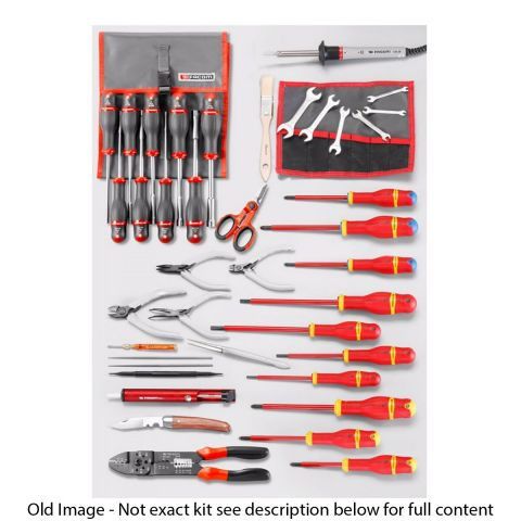 FACOM 2132.EL30 - 50pc Electricians Metric Tool Kit + Cantilever Tool Box