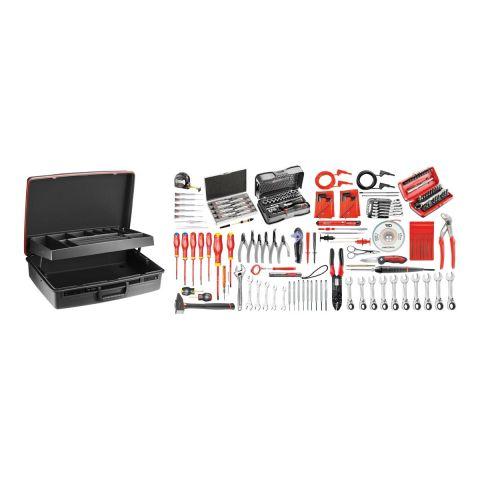 FACOM 2138.EL35 - 172pc Electricians Metric Inch Tool Kit + Technicians Case