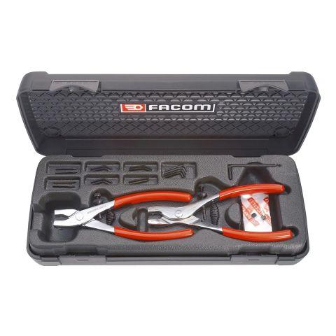 FACOM 470 - 2pc Multi-Tip Circlip Pliers Set + Tips