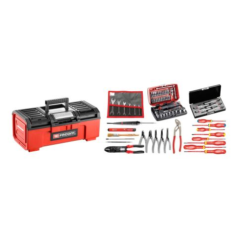 FACOM BPC16N.EL31 - 69pc Electricians Metric Tool Kit + Tool Box