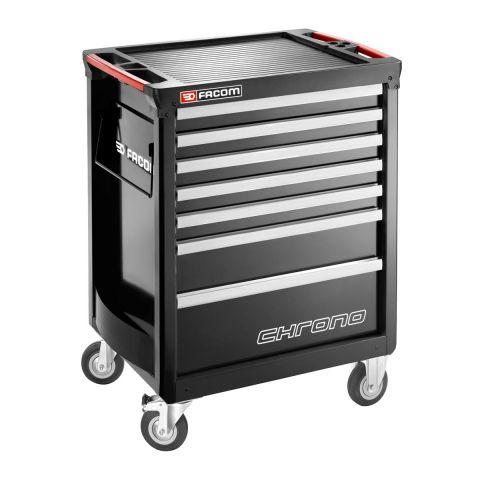 FACOM CHRONO.7GM3A - CHRONO+ 7 Drawer 3 Mod Roller Cabinet Black