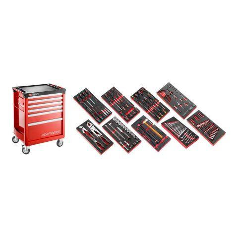 FACOM CHRONO6M3.CM135 - 138pc General Metric Tool Kit In Foam Modules + CHRONO+ Roller Cabinet