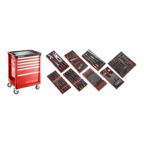 FACOM CHRONO6M3.CMAG - 135pc General Metric Tool Kit In Foam Modules + CHRONO+ Roller Cabinet
