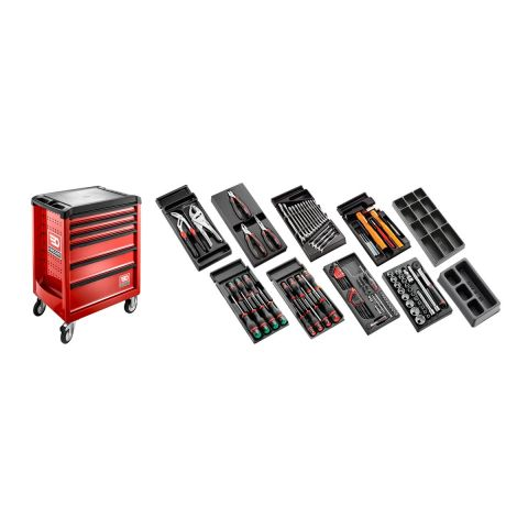 FACOM CM.118 - 118pc General Metric Tool Kit In Modules + Roller Cabinet