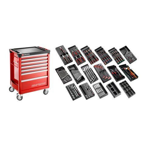FACOM CM.166 - 166pc General Metric Tool Kit In Modules + Roller Cabinet