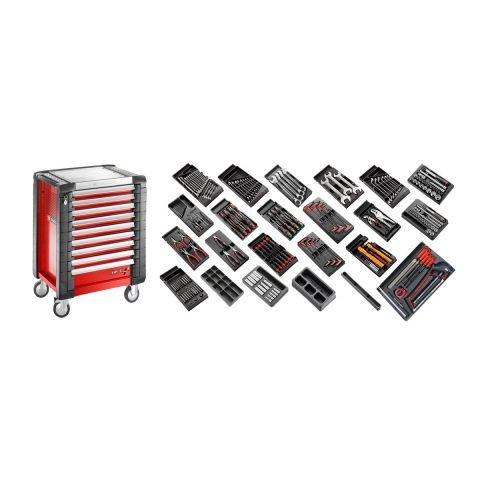 FACOM CM.230 - 230pc General Metric Tool Kit In Modules + Roller Cabinet