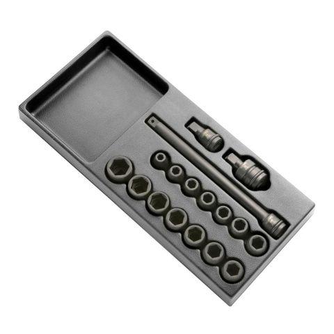 """EXPERT by FACOM E040601 - 17pc 1/2"""" Square Drive Metric 6pt Impact Socket Module"""