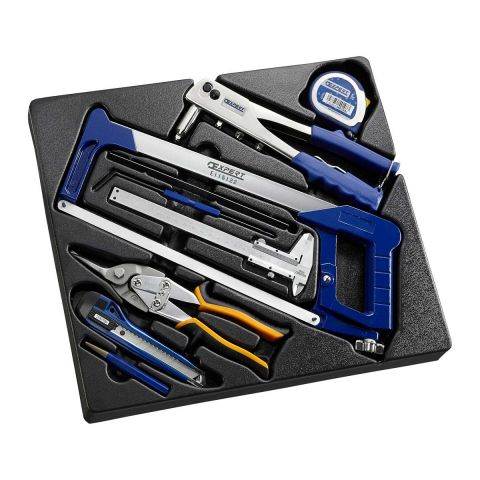 EXPERT by FACOM E090302 - 9pc Measuring + Cutting + Riveting 3xModule