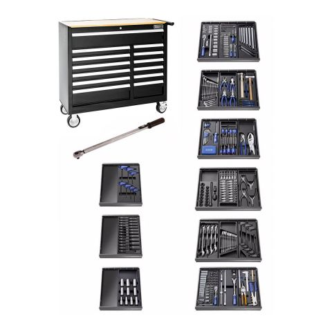 EXPERT by FACOM E220334B - 390pc General Metric Tool Kit + 13 Drawer Wide Roller Cabinet