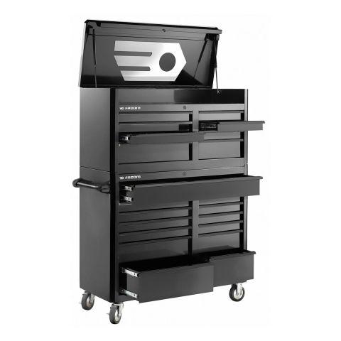 FACOM FAS.21BK - USA 21 Drawer 3+2 Mod Roller Cabient + Chest Set Black