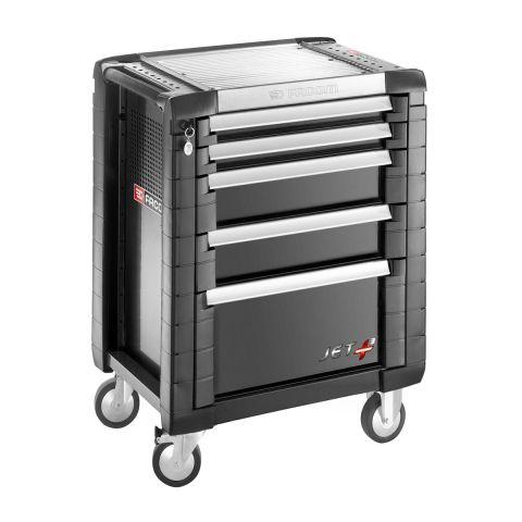 FACOM JET.5GM3 - JET+ 5 Drawer 3 Mod Roller Cabinet Black