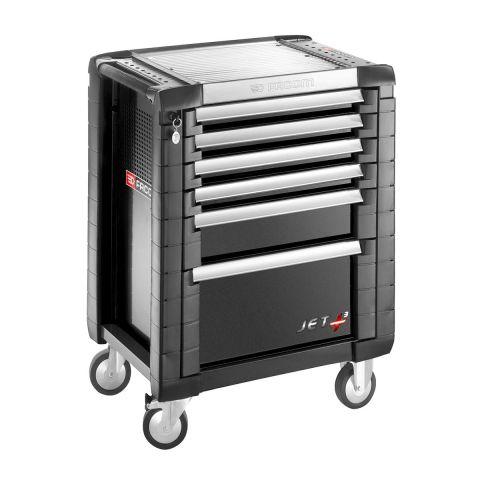 FACOM JET.6GM3 - JET+ 6 Drawer 3 Mod Roller Cabinet Black