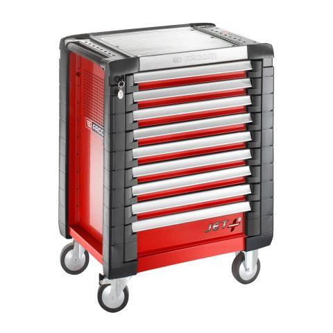 FACOM JET.9M3 - JET+ 9 Drawer 3 Mod Roller Cabinet Red