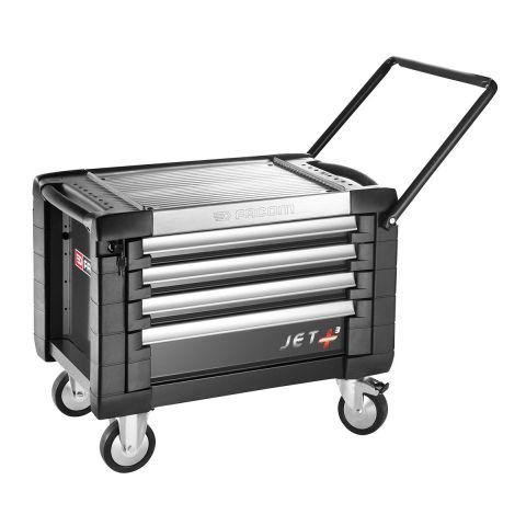 FACOM JET.CR4GM3 - JET+ 4 Drawer 3 Mod Roller Cabinet Black