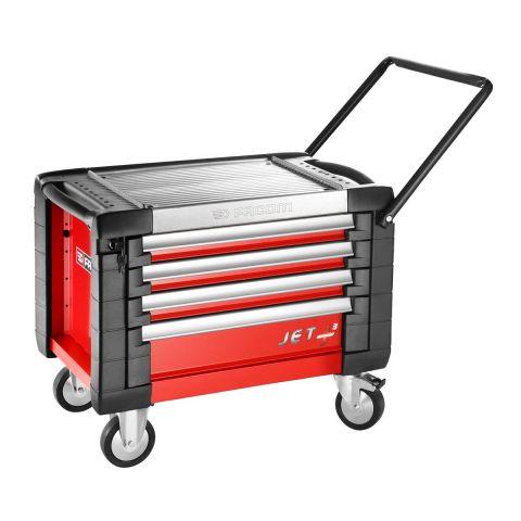 FACOM JET.CR4M3 - JET+ 4 Drawer 3 Mod Roller Cabinet Red
