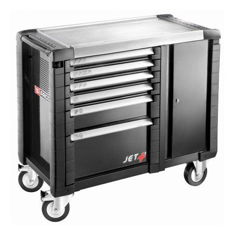 FACOM JET.T6GM3 - JET+ 6 Drawer 3 Mod + Side Cab Roller Cabinet Black