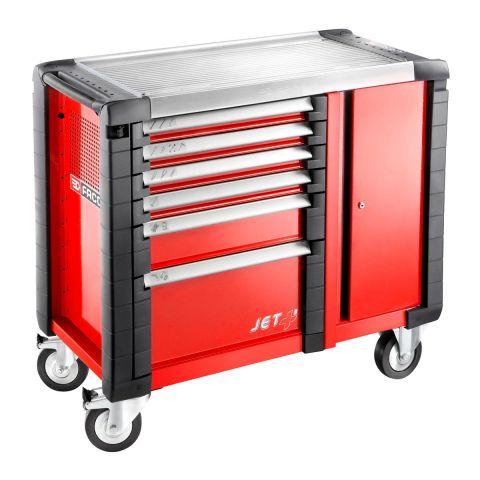 FACOM JET.T6M3 - JET+ 6 Drawer 3 Mod + Side Cab Roller Cabinet Red
