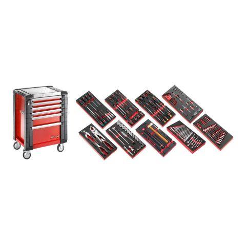 FACOM JET6M3.CM135 - 138pc General Metric Tool Kit In Foam Modules + JET+ Roller Cabiner