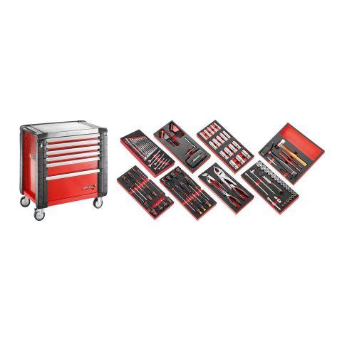 FACOM JET6M4.CMPL - 142pc General Metric Tool Kit In Foam Modules + Roller Cabinet