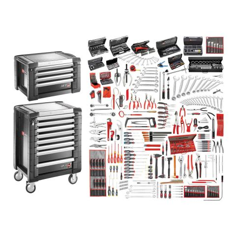 FACOM JET8.M160A - 528pc General Metric Tool Kit + Roller Cabinet + Tool Chest