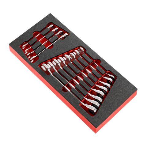 FACOM MODM.467BJ12PB - 12pc Metric Ratchet Combination Spanner Foam Module