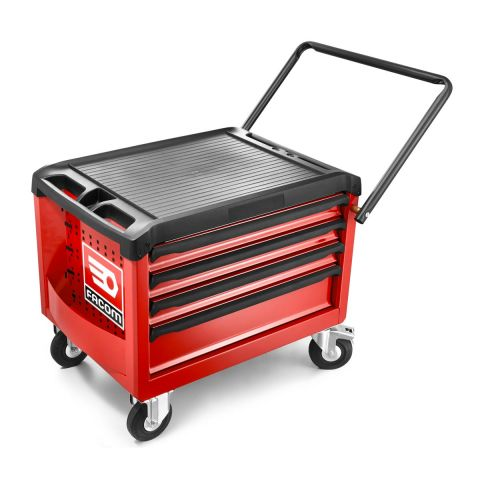 FACOM ROLL.CR4M3 - ROLL+ 4 Drawer 3 Mod Roller Cabinet Red