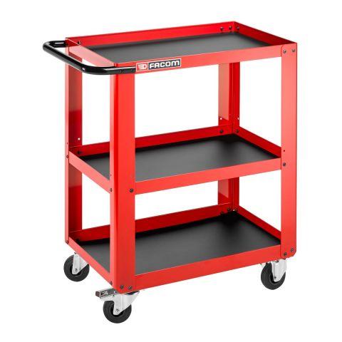 FACOM ROLL.UC3S - 3 Metal Shelf Roller Trolley