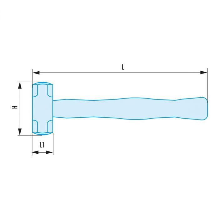 FACOM 1261H.XSR - Non-Sparking Sledge Hammer