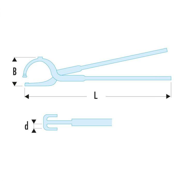 FACOM 196.XS - Brake Spring Pliers
