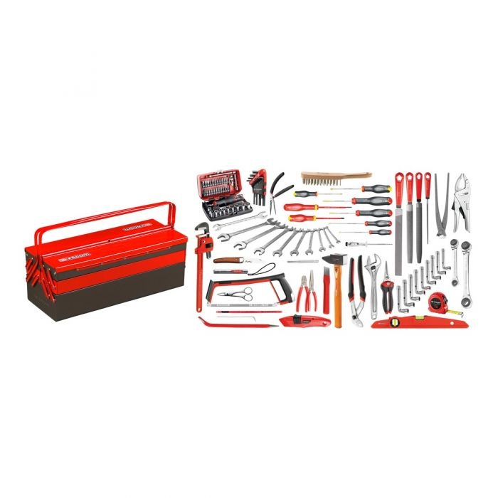FACOM 2046.SG4A - 112pc General Services Metric Tool Kit + Cantilever Tool Box