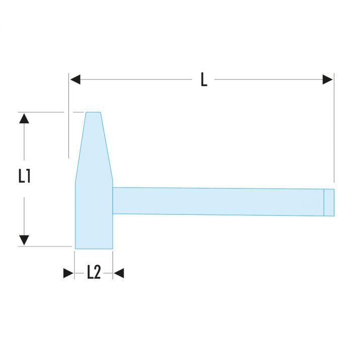FACOM 205C.XSLS - SLS Tethered Point Pein Engineers Graphite Handle Hammer