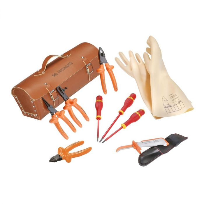 FACOM 2180B.VSE - 10pc Insulated Tools Kit + Leather Bag