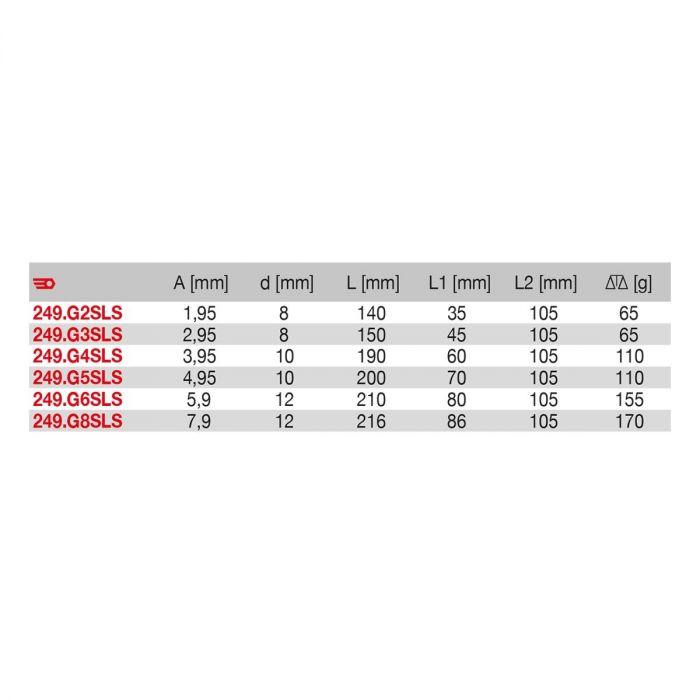 FACOM 249.GXSLS - SLS Tethered Comfort Grip Parallel Drift Punch