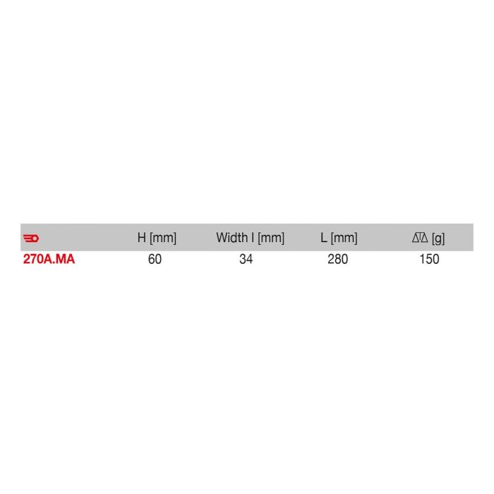 270A.MA - Wood Handle Flat Steel Wire Brush