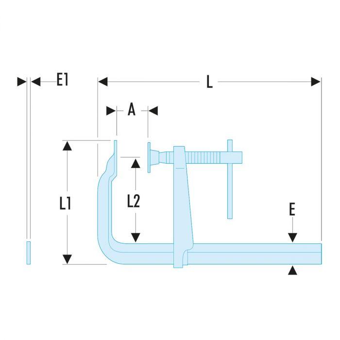 FACOM 272.XL - Wide Throat Sliding Bar Clamp