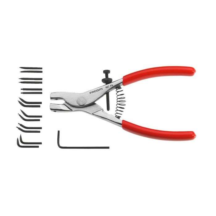 FACOM 467 - 0.9mm-1.8mm Multi-Tip Outsdie Circlip Pliers