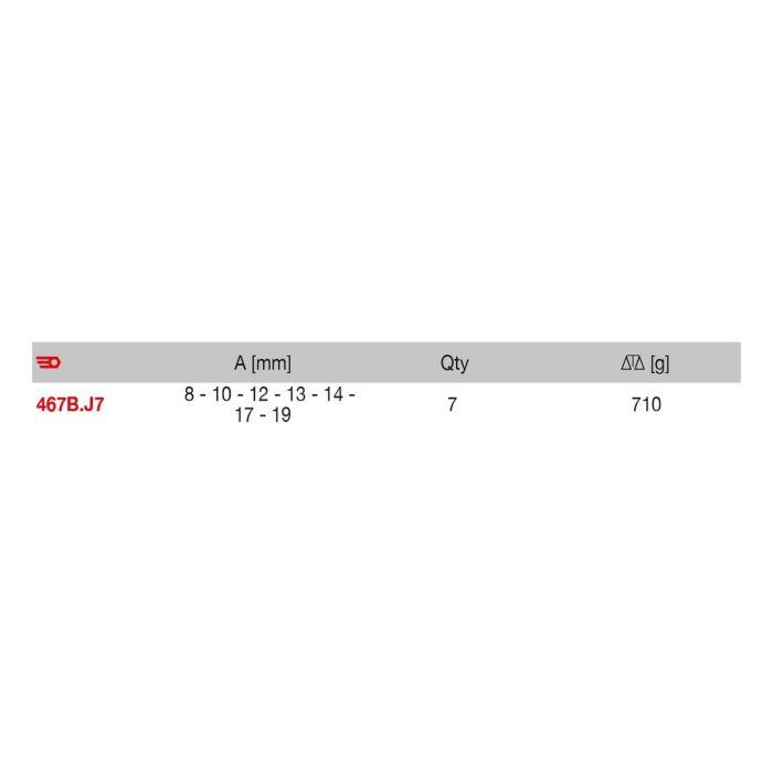 FACOM 467B.J7PB - 7pc Metric Ratchet Combination Spanner Set