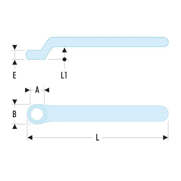 FACOM 55.XAVSEM - Insulated Metric Offset Ring Spanner