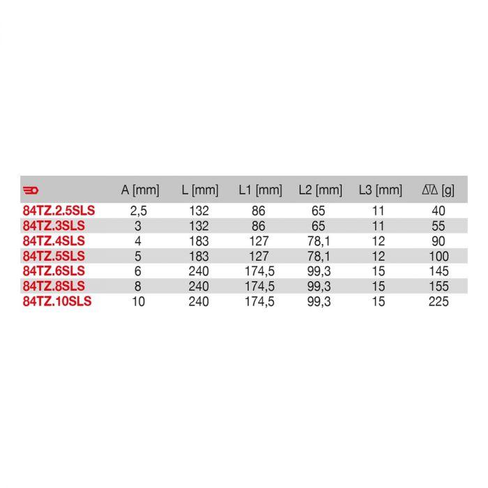 FACOM 84TZ.XSLSM - SLS Tethered Metric Hex Comfort Grip T-Handle Key