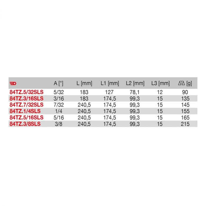 FACOM 84TZ.XSLSU - SLS Tethered Inch Hex Comfort Grip T-Handle Key