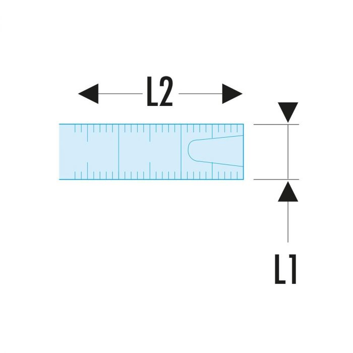 FACOM 893.XSLS -SLS Tethered Class II Metric ABS Case Tape Measure